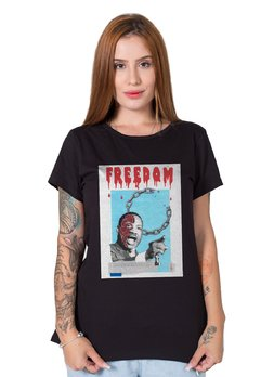 Camiseta Feminina Martin Luther King Collage na internet