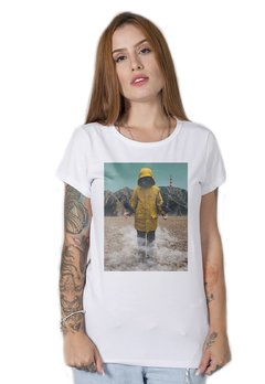 camiseta feminina branca the drought