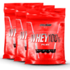 Kit 3 Whey 100% Pure (2,721Kg) Refil Integralmedica