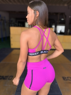 Short Metcon Fuscia - Black Cherry Fitwear