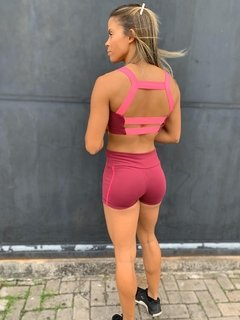 Conjunto Speed Marsala - Black Cherry Fitwear