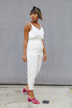 Calça slouchy // all white - A Fine Mess