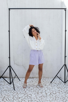 Shorts everyday linho // lavanda