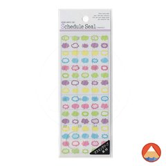 Cartela de Adesivos Schedule Seal WASHI PAPER - SPEECH BUBBLE