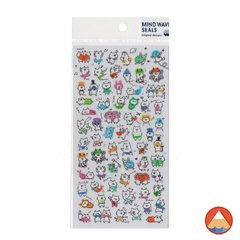 Cartela de Adesivos Mind Wave Seals - COLORFUL CATS
