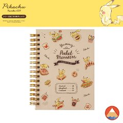 Notebook A6 Double Ring • PIKACHU N025• 70 folhas • GRID QUADRICULADO