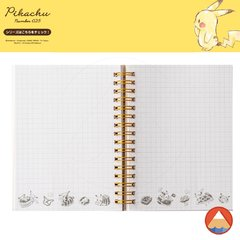 Notebook A6 Double Ring • PIKACHU N025• 70 folhas • GRID QUADRICULADO na internet