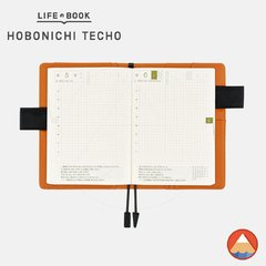 Hobonichi Techo Cover - A6 - BLACK X ORANGE - Plataforma81