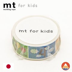 Washi Tape MT for Kids Números - 15mm x 7M
