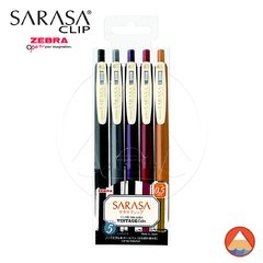 Caneta SARASA CLIP - 0.5mm - VINTAGE COLORS 2 - KIT C/ 5