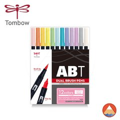 Tombow Dual Brush ABT - PASTEL COLORS - 12 Cores
