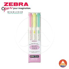 Mildliner Zebra KIT 3C- MILD FLUORESCENT COLORS