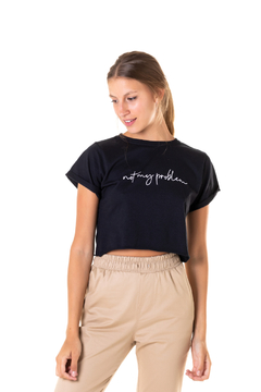 Cropped Not My Problem - Feminino - comprar online