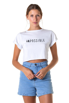 Cropped impossible - Feminino
