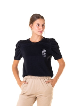 Blusa Puffed I Like Coffee - Feminina - Useliverpool