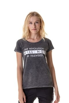 T-shirt Estonada The Revolution Will Not Be Televised - Feminina