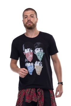 T-shirt Beatles Scarves - Masculina