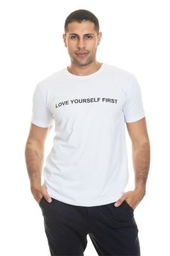 T-shirt Love Yourself First - Masculina