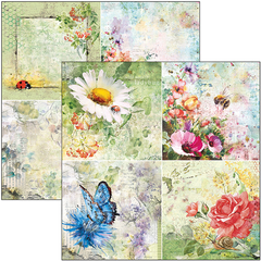 "PRE-VENDA MICROCOSMOS PAPER PAD 12""X12"" - 12 PAPÉIS - Mon Papier Scrapbook, Mixed Media, Decoupage e Cartonagem"