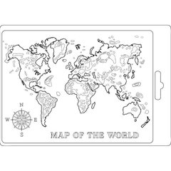 Molde A5 Map of the World - Stamperia