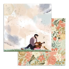 "Papel 30.5x30.5cm (12""x12"")  - Love Story Guitar"