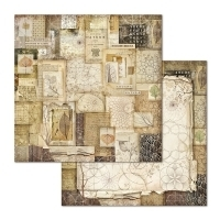 "Papel 30.5x30.5cm (12""x12"")  - Forest Natura Patchwork - Stamperia"