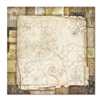 "Papel 30.5x30.5cm (12""x12"")  - Forest Natura Patchwork - Stamperia na internet"
