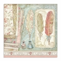 "Papel 30.5x30.5cm (12""x12"")  - Princess Plumas - Stamperia"
