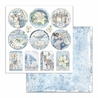 "Papel 30.5x30.5cm (12""x12"")  - Winter Tales Frames"