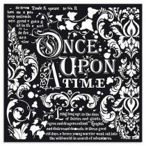Stencil Espesso 30 x 30 cm - Once upon a time
