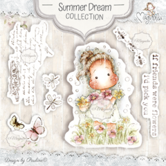 Carimbo Magnolia Arts Stamp Kit - Summer Dream