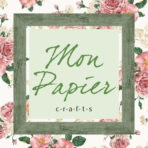 Papel scrapbook, Material scrapbook e Mixed media, Aulas scrapbook Mon Papier