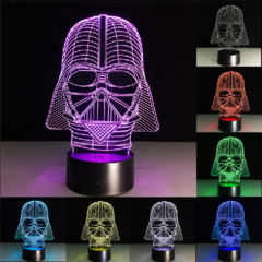 Luminária de LED 3D - Darth Vader