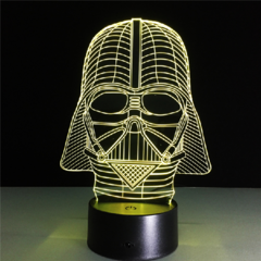 Luminária de LED 3D - Darth Vader na internet