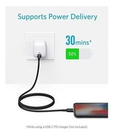 ANKER - Power Line II Select 0,9m (USB-C p/ lightning) - preto na internet