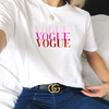 T-SHIRT CAMISETA FEMININA MANGA CURTA VOGUE COLORTRI