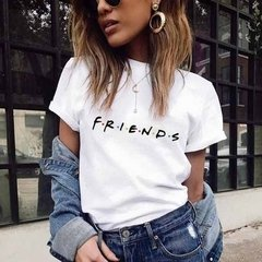 T-SHIRT CAMISETA FEMININA MANGA CURTA BRANCA FRIENDS