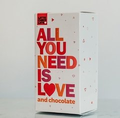 "Caja x 5 Latte Chocolate ""All you need is love"" - tienda online"