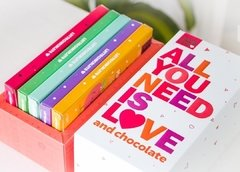 "Caja x 5 Latte Chocolate ""All you need is love"" - Caramelandia"