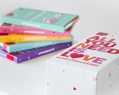 "Caja x 5 Latte Chocolate ""All you need is love"" - comprar online"