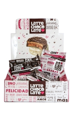 Alfajores Latte Chocolate 8 U (negro/blanco)