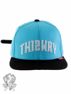Boné This way Strapback Logo Bordado Blue