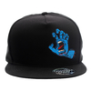 Boné Snapback Santa Cruz Screaming Hand Preto