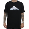 Camiseta Thank You Head in The Clouds Preta