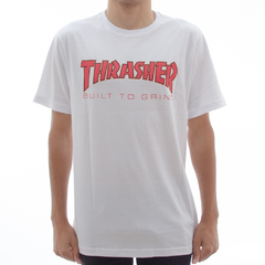 Camiseta Thrasher X Independent BTG White