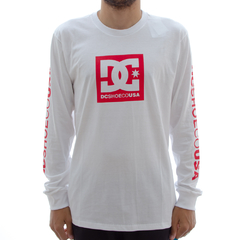 Camiseta DC M/L Square White
