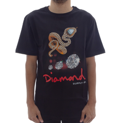 Camiseta Diamond Snake Black