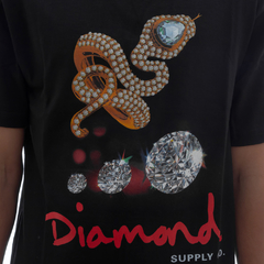 Camiseta Diamond Snake Black - comprar online