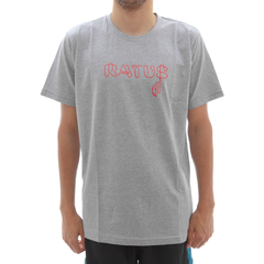 Camiseta Ratus Neon Writing Red Grey
