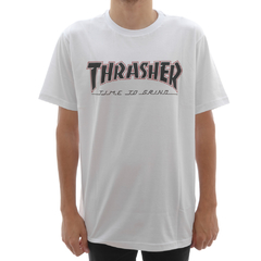 Camiseta Thrasher X Independent Time to Grind White